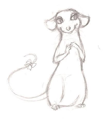 400x464 Rat Girl Drawing Cartoon Rat Drawings
