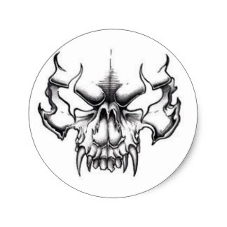 324x324 Evil Skull Stickers Zazzle