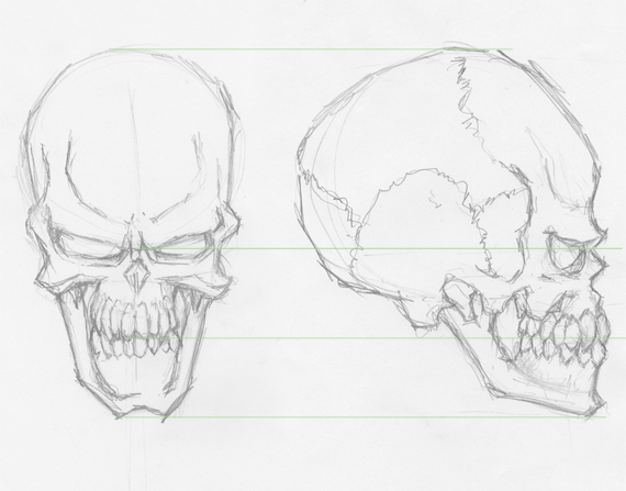 570x447 How To Draw Evil Vector Skulls In Illustrator