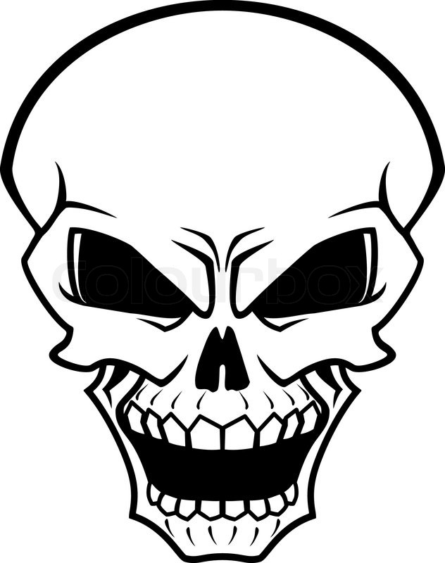 632x800 Danger Skull As A Warning Or Evil Concept Stock Vector Colourbox