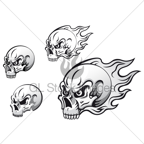 500x500 Skull Tattoos Gl Stock Images