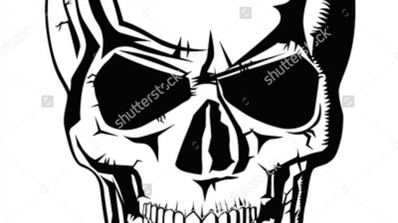 570x320 Evil Skull Drawing Dead Head Stock Photos Images Amp Pictures