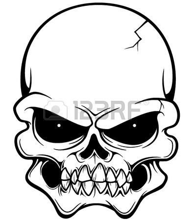 394x450 Evil Skull Stock Photos. Royalty Free Business Images