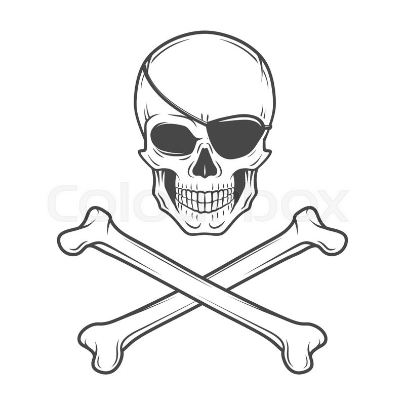 800x800 Jolly Roger With Eyepatch And Crossbones Logo Template. Evil Skull
