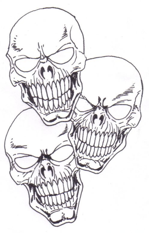 496x777 Learn To Draw A Skull Tattoo Concept Idea. Skull Drawing Copyright