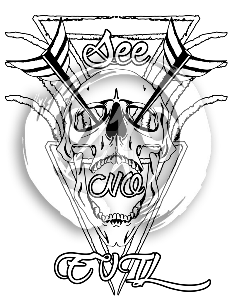 792x1008 See No Evil Skull Design (Watermarked 219design) By