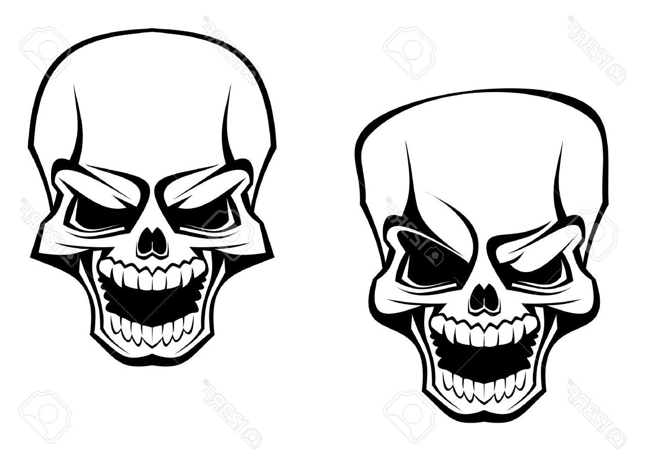 1300x906 Top Danger Skull As Warning Or Evil Concept Stock Vector Tattoo