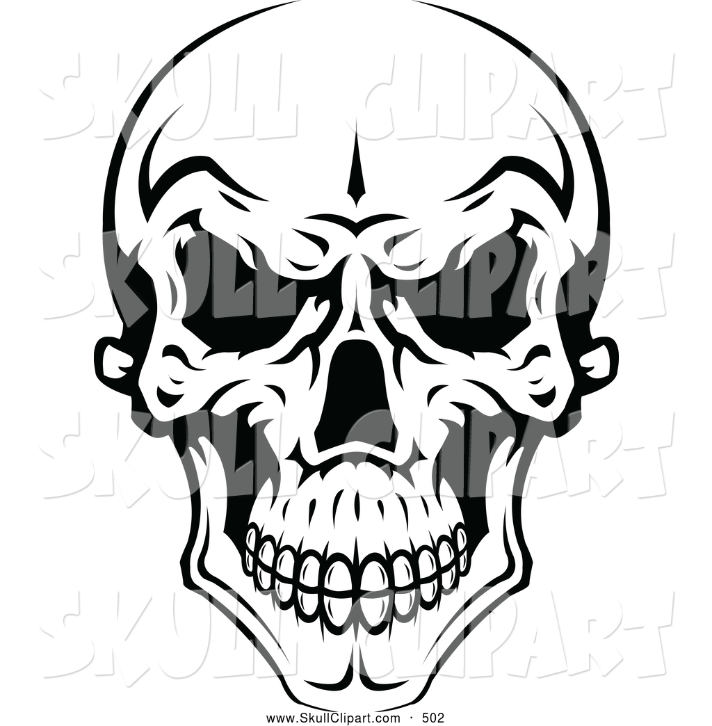 1024x1044 Vector Clip Art Of A Spooky Evil Black And White Skull By Vector