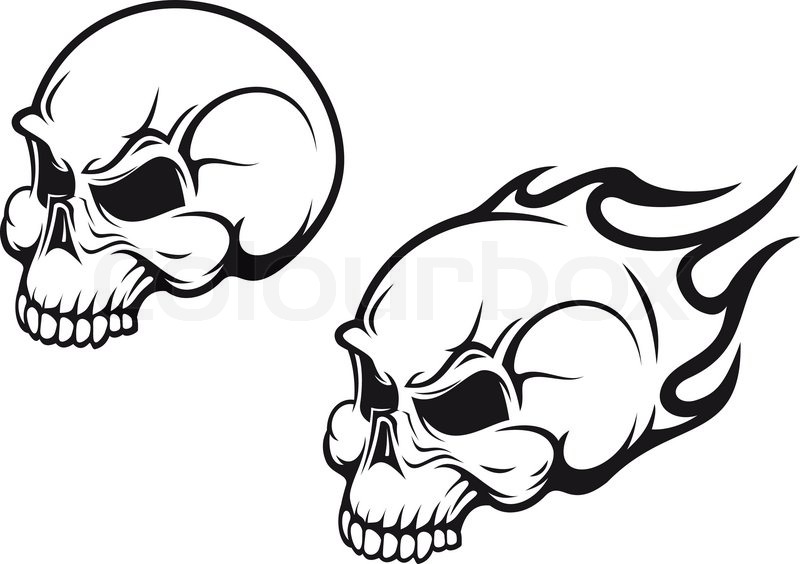 800x564 Danger Skulls As A Tattoo Or Evil Concept Stock Vector Colourbox
