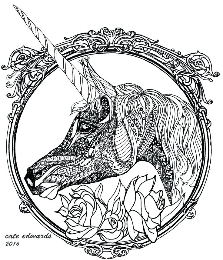 736x858 Evil Unicorn Coloring Plus Unicorn Coloring Page By 366
