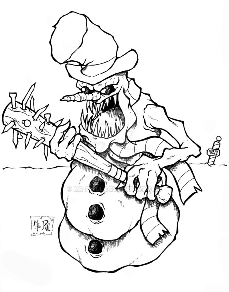 793x1007 Frosty The Snowman By Mr Phill