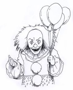 236x289 Evil Skull Coloring Pages Evil Clown Drawings Drawing Factory