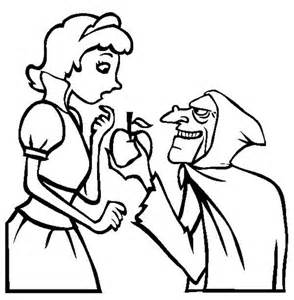 294x300 Snow White With The Wicked Witch Coloring Pages Snow, Snow White