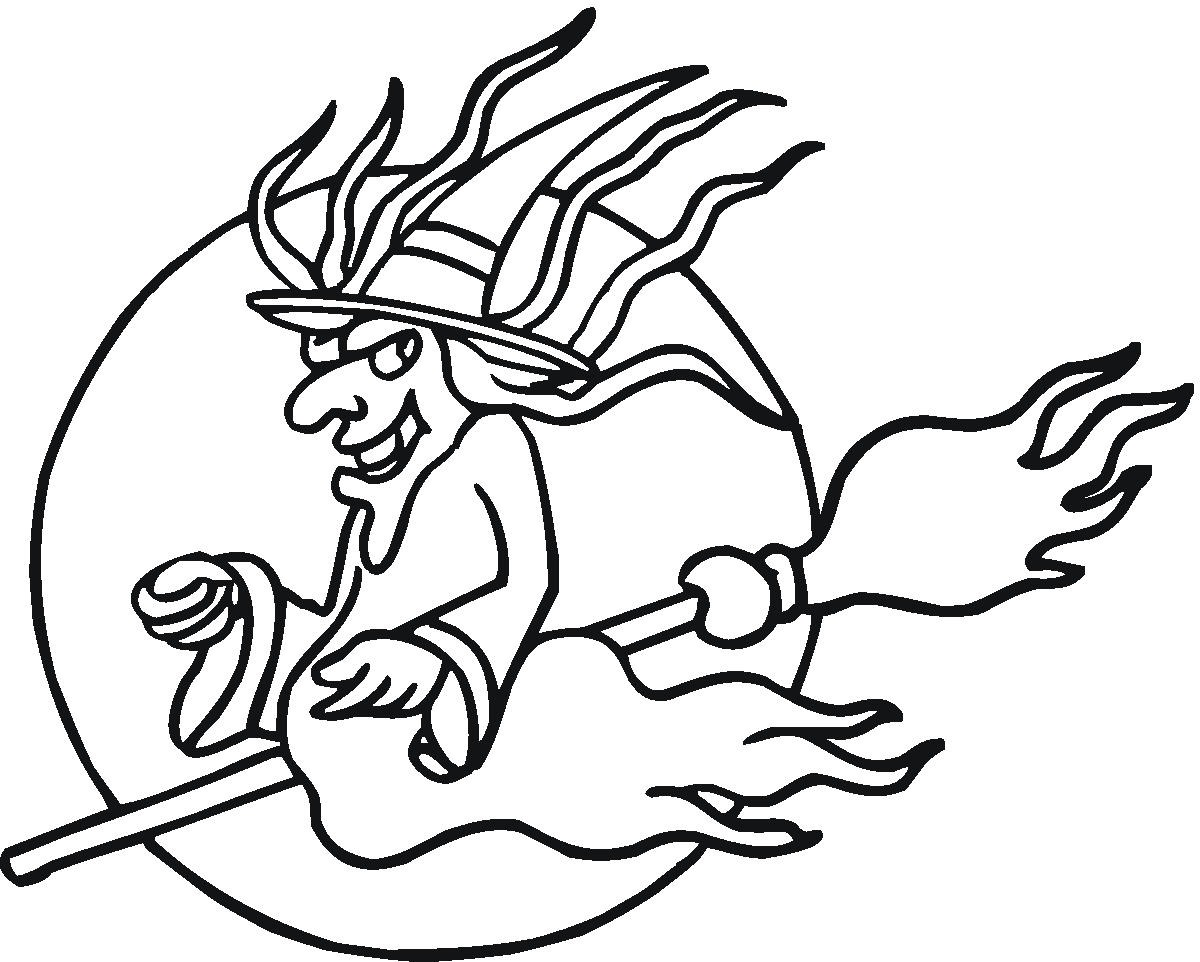 1200x962 Print Holidays Coloring Pages Evil Women Flying On Broom