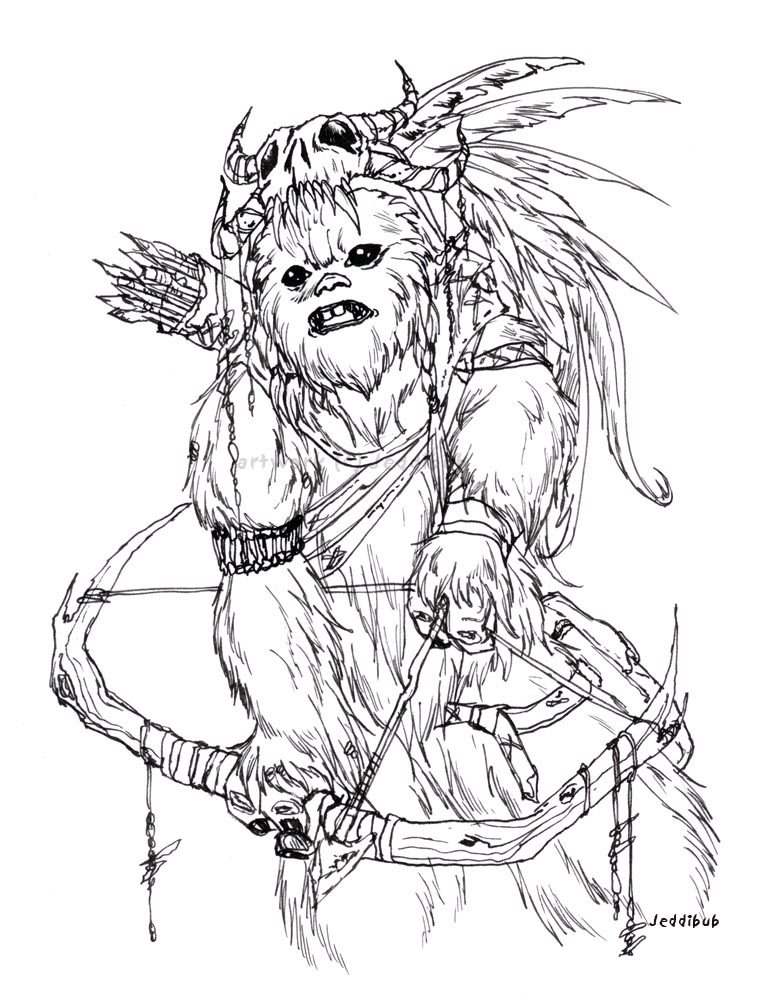 Ewok Drawing