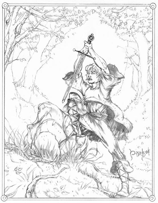 555x713 Arthur Pulling Excalibur From The Stone., In Bennett Pisek'S