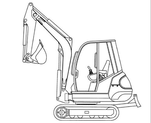 Excavator Drawing at GetDrawings com   Free for personal use