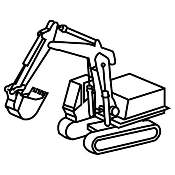 600x600 General Grading Excavator Coloring Pages General Grading