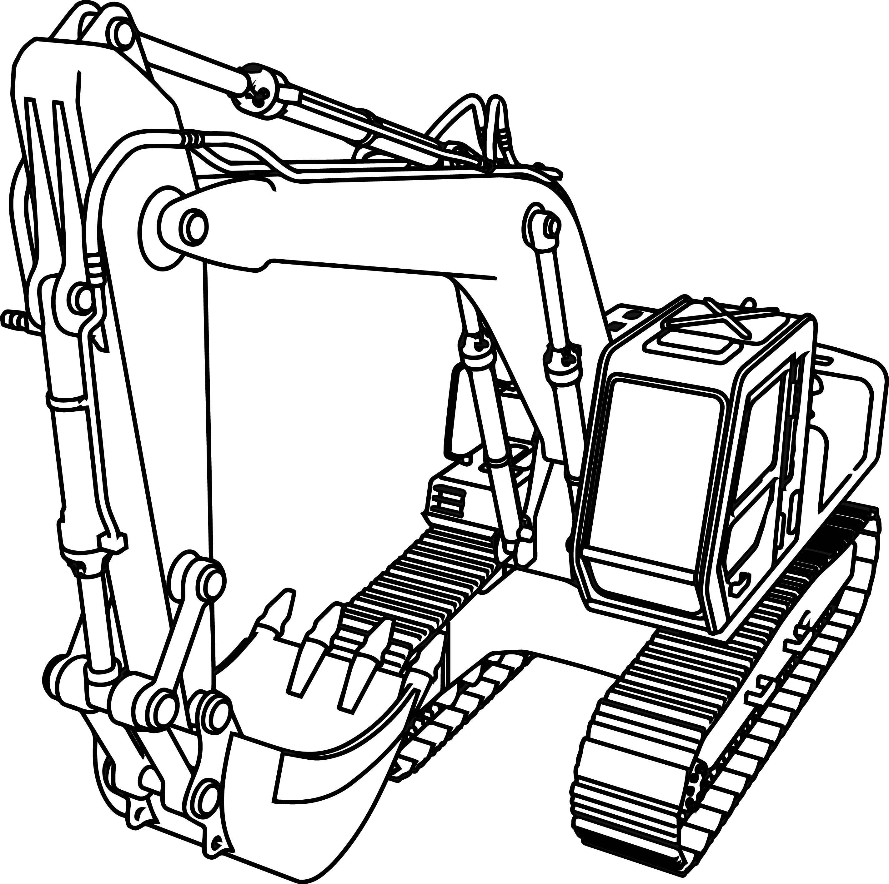 excavator drawing at getdrawings | free download