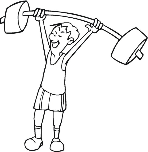 630x646 Free Exercise Coloring Pages
