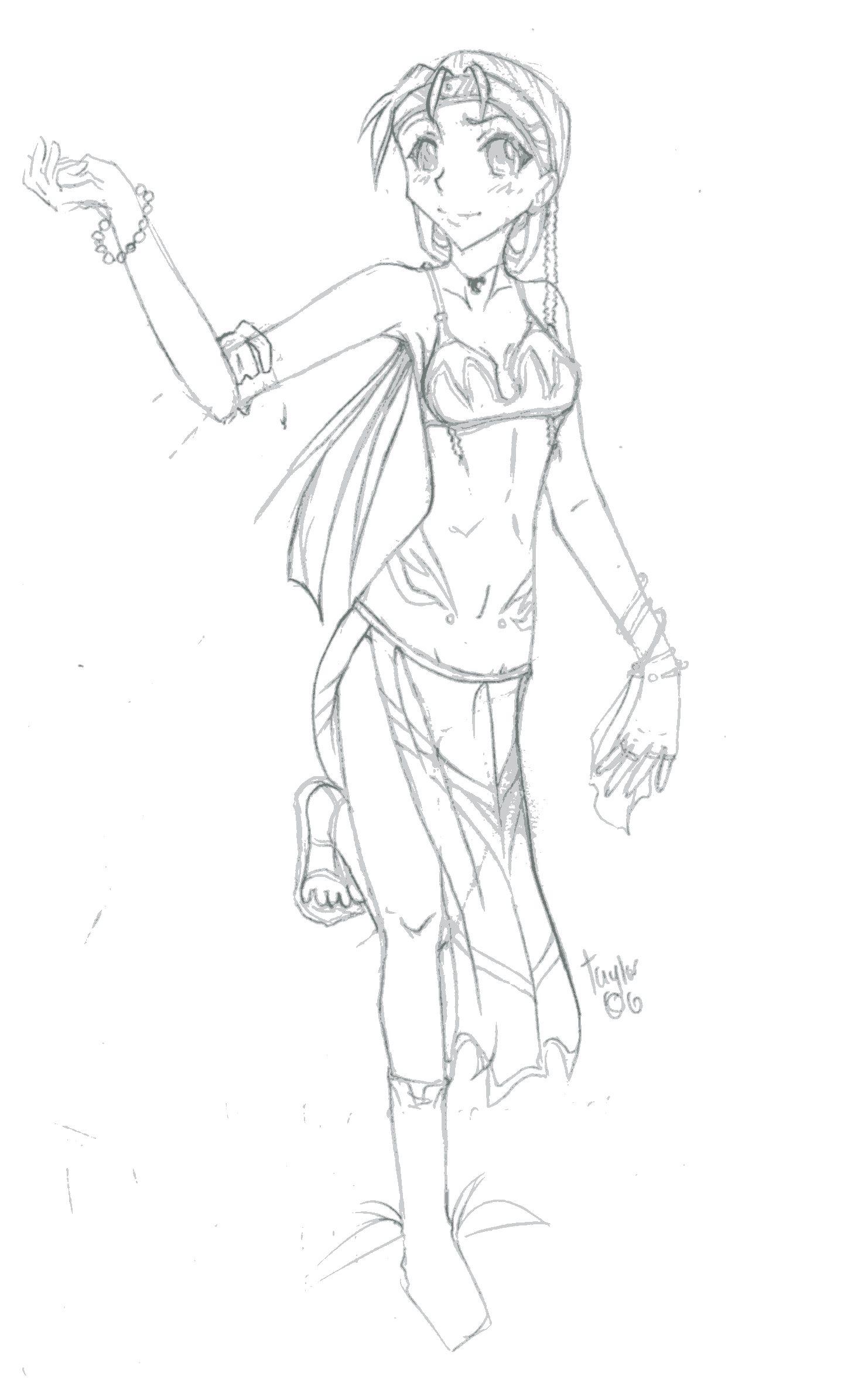 1465x2390 Exotic Dancer Sketch By Reina Sama San