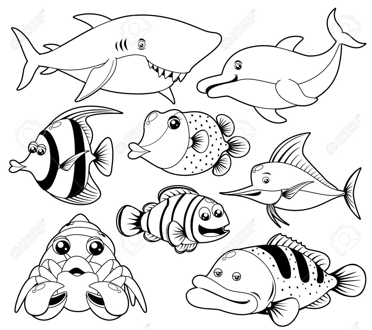 1300x1155 Tropical Fish Clipart Aquatic Animal
