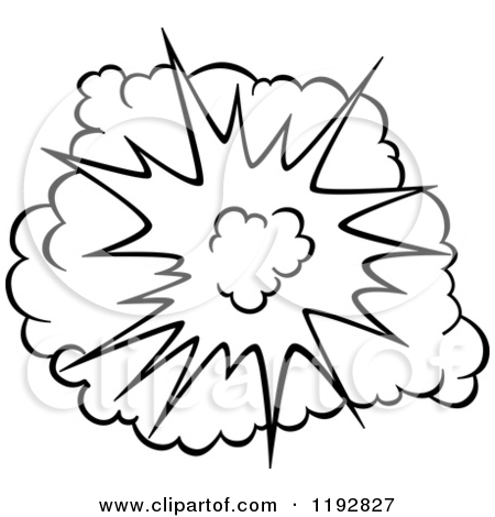 450x470 Clipart Of A Black And White Comic Burst Explosion Or Poof 4