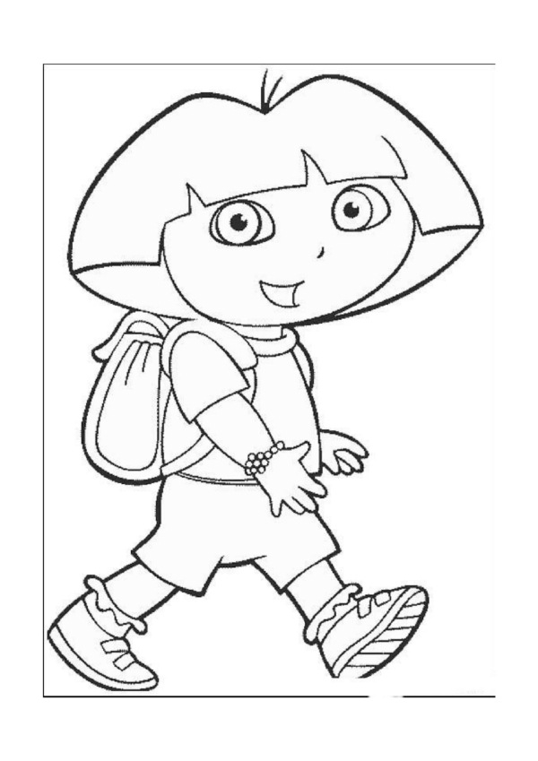 600x849 Dora The Explorer Coloring Pages 21 Coloring Pages For Kids