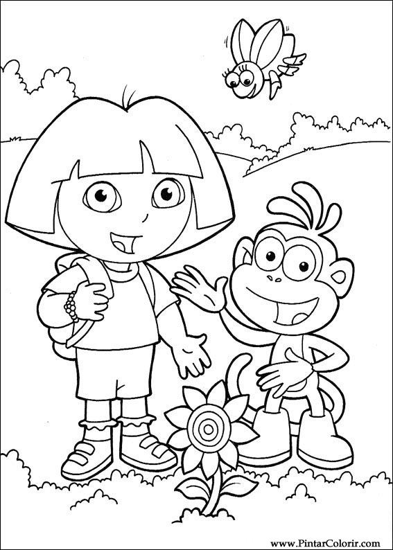 567x794 Drawings To Paint Amp Colour Dora The Explorer