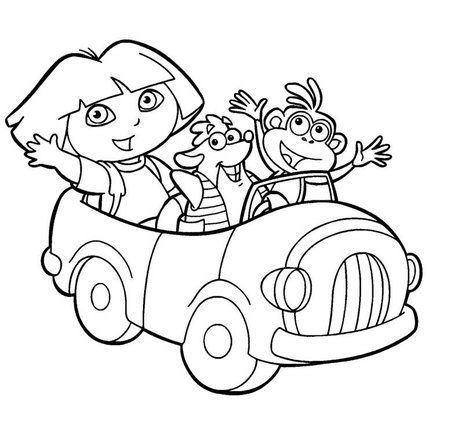 450x434 Free Coloring Pages Dora The Explorer Drawing Gtgt Disney Coloring Pages