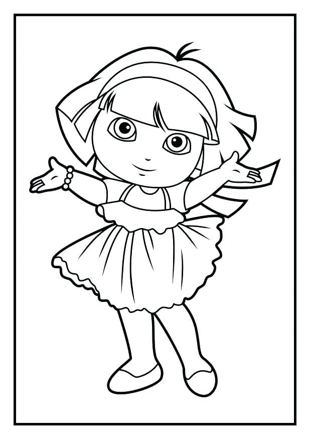 618x874 Coloring Book Dora Coloring Pages The Explorer Games Book Download
