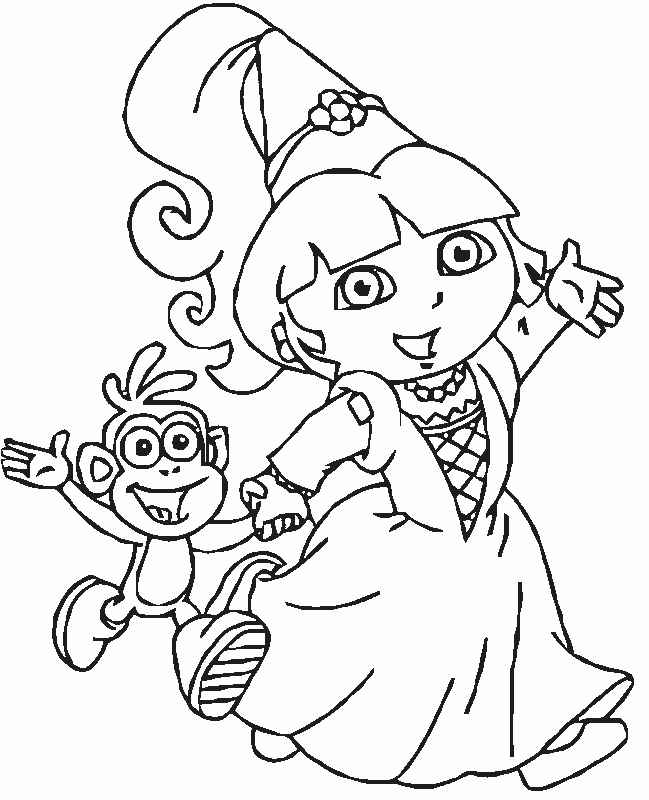 649x800 Printable Dora The Explorer Coloring Pages Preschool To Sweet Draw