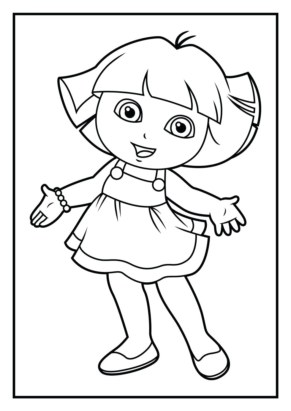 980x1386 Coloring Dora The Explorer Coloring Sheets Pages And Line