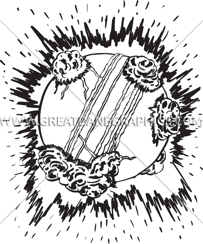 825x991 Explosive Cricket Ball Production Ready Artwork For T Shirt Printing