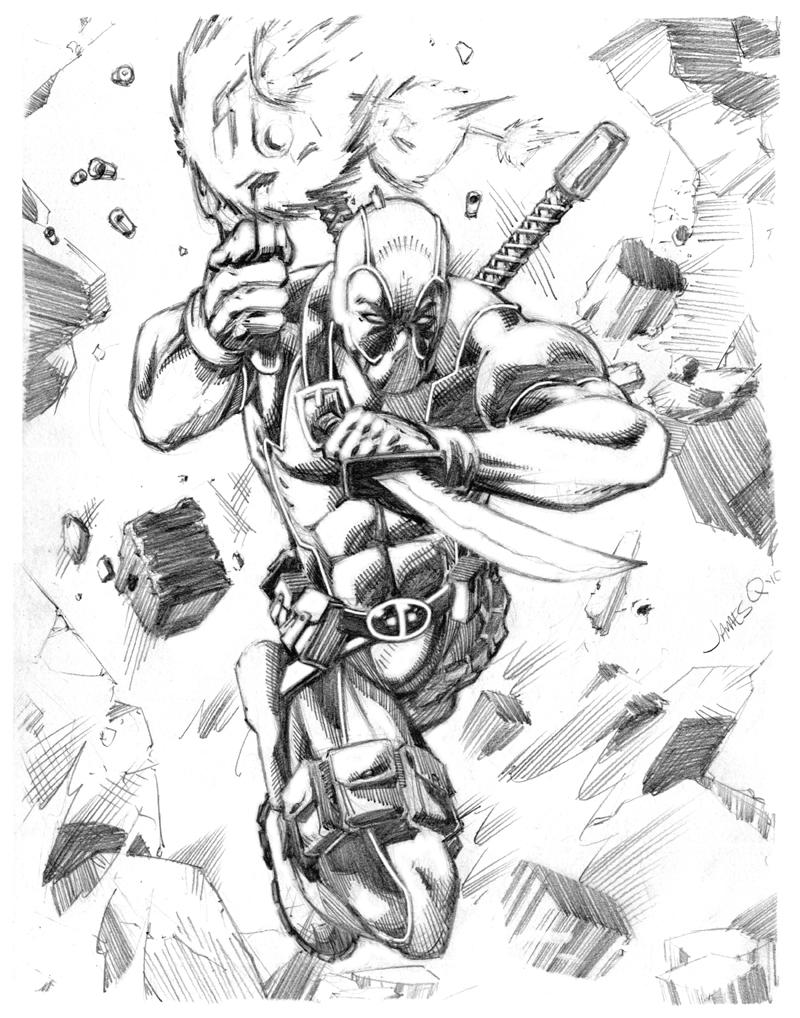 800x1018 Explosive Deadpool By James Q. Nguyen Dibujos