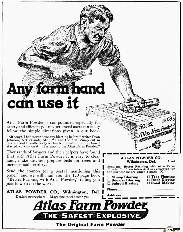 900x1142 Historic Advertisement Of Atlas Farm Powder The Safest Explosive