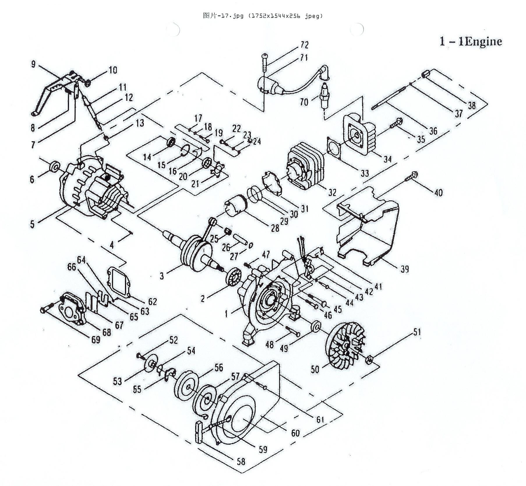 1806x1668 Gasoline Engine Explosive Dm Series Gasoline Engine