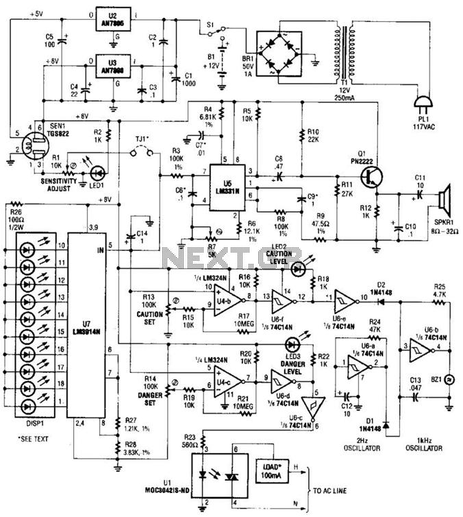 676x754 Sens Detectors Gt Air Gas Gt Explosive Gas Detector Circuit L14692