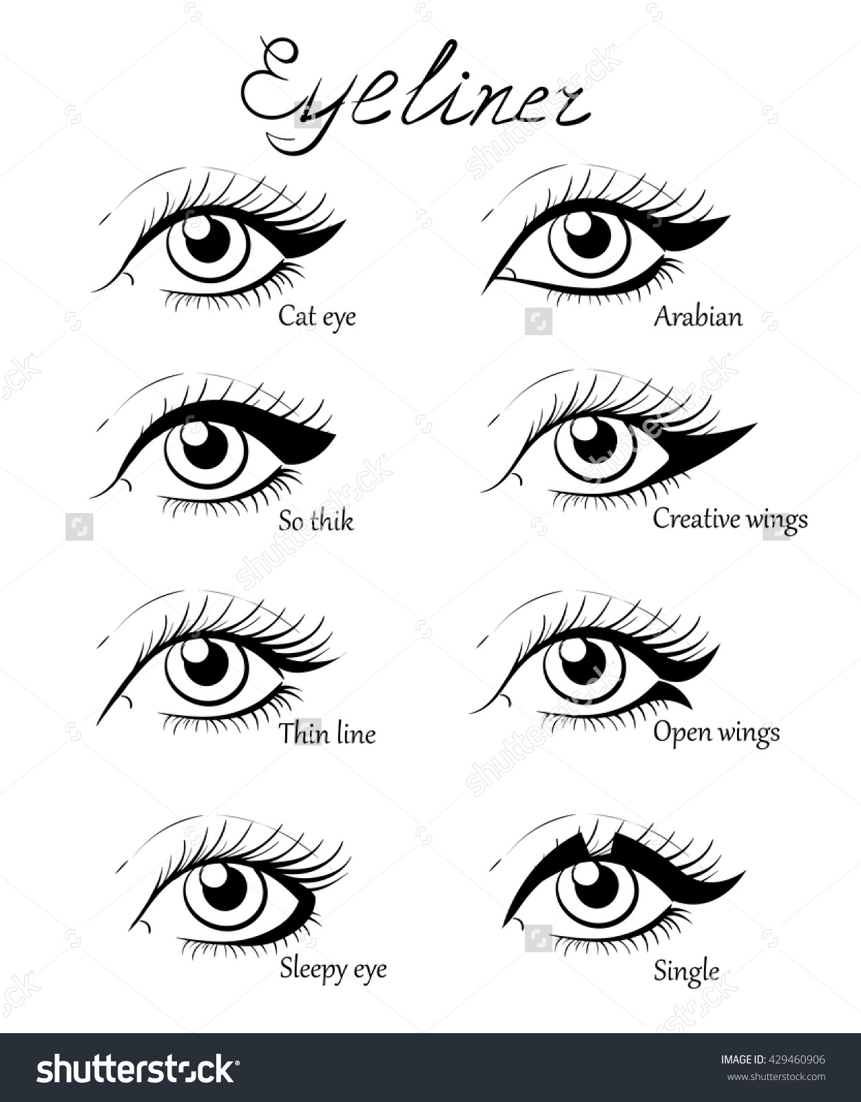 1250x1600 Different Types Of Eyes Drawing How To Draw Eye Makeup Step By