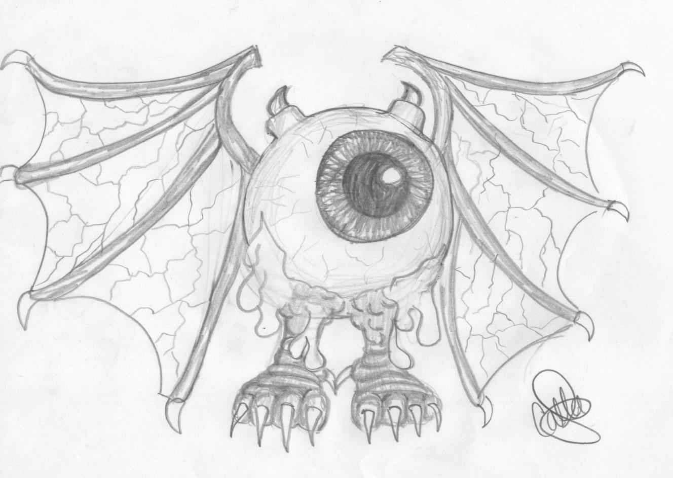 1328x944 Flying Eyeball By Crazyscorpio