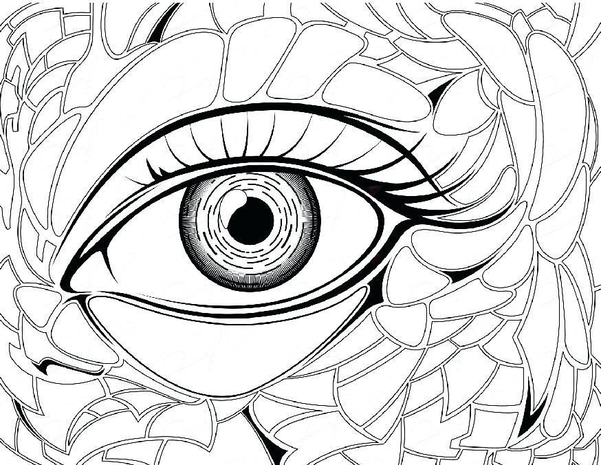 874x676 Perfect Eyeball Coloring Pages Crayola Photo Eye Iowa Hawkeye