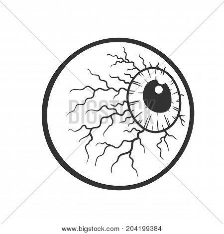450x470 Cartoon Bloody Eyeball, Halloween Vector Amp Photo Bigstock
