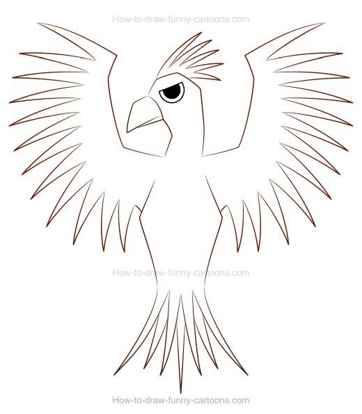 520x595 Create A Fun Phoenix Drawing!
