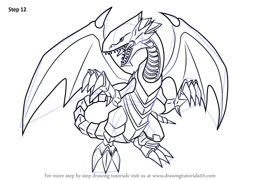 846x600 Learn How To Draw Blue Eyes White Dragon From Yu Gi Oh! Official
