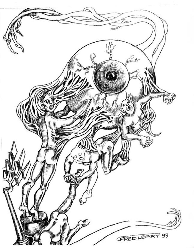 647x826 Eyeball Drawing By Fred Leary The Eye Si(Gh)t