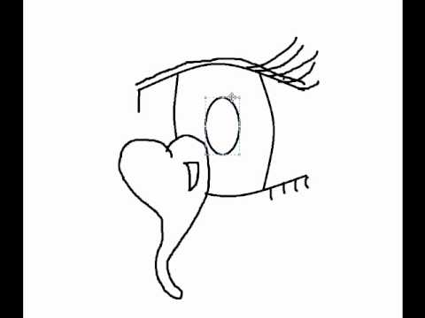 480x360 How To Draw An Anime Eye Crying A Heart!