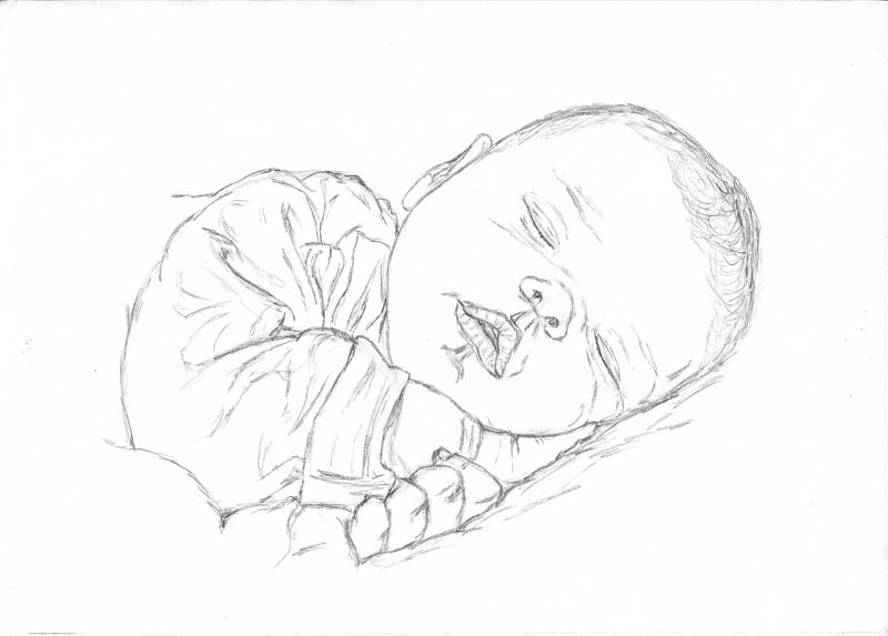 800x573 How To Make A Drawing Of A Baby Sleeping Let's Draw People