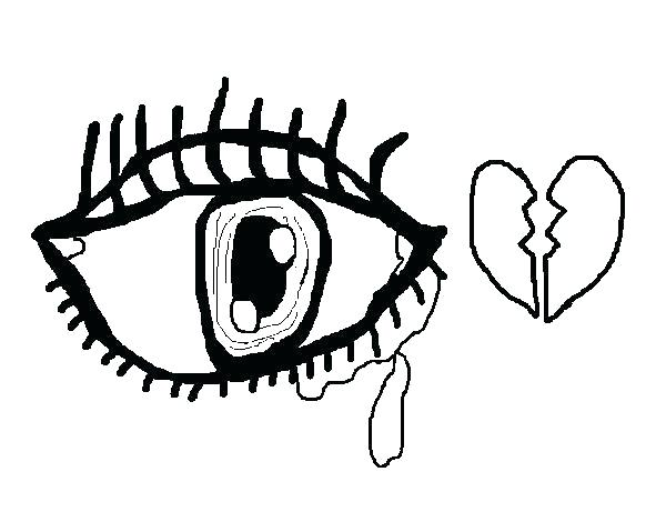 600x470 Eyes Coloring Pages