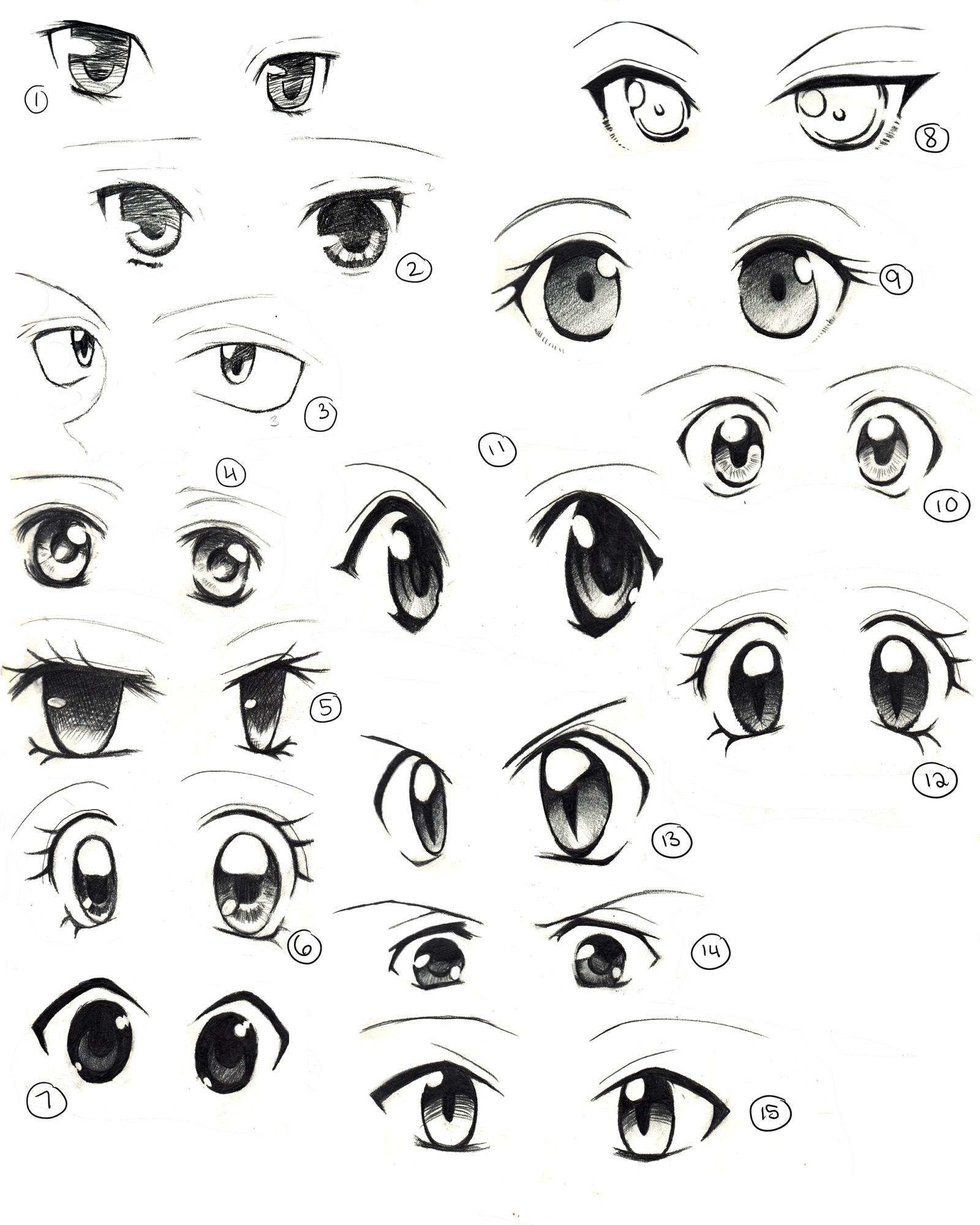 1600x2000 Eye Drawing Anime Anime Eyes Practice By Saflam