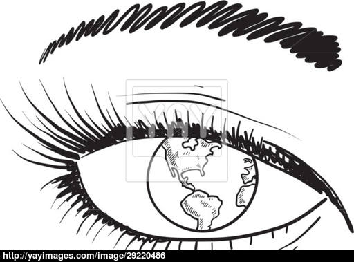 512x379 Eyes On The World Sketch Vector